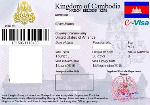 Cambodian e-Visa